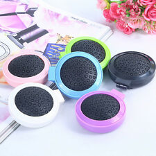 Beautiful Mini Round Folding Comb With Mirror Girls Travel Hair Brush Hot