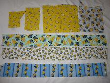 MINIONS DESPICABLE ME Cotton fabric Large scrap pack/remnants/Applique
