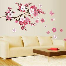 DIY Living Room Bedroom Wall Sticker Flower Floral Blossom Wall Art Decal Decor