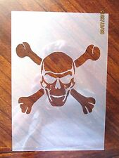 Skull and Cross Bones Stencil for Airbrush, Crafting, Art Work, etc.