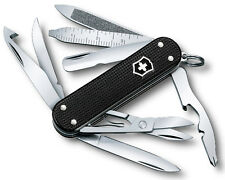 0.6381.23 VICTORINOX MINICHAMP STEEL ALOX SWISS ARMY POCKET KNIFE BLACK 0638123
