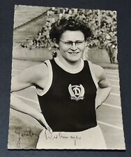 PHOTO CPA 1959 ATHLETISME RDA DDR SC DYNAMO BERLIN GISELA BIRKEMEYER 80 M HAIES