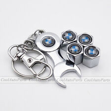 4PCS Chrome Car Air Valve Caps Airtight Tyre Tire Wheel Stems Dust Cover For BMW