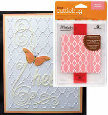 CUTTLEBUG Embossing folders MODERN WALLPAPER wedding all occasion folder set