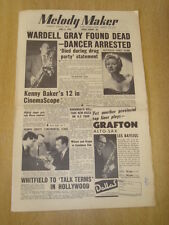 MELODY MAKER 1955 JUNE 4 WARDELL GRAY KENNY BAKER PEGGY MCDONALD JAZZ SWING
