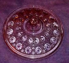 INDIANA POST DEPRESSION GLASS LID ONLY PINK WINDSOR CANE & BUTTON 7.5""