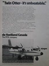 2/1974 PUB DE HAVILLAND CANADA TWIN OTTER BRADLEY AIR SERVICES ORIGINAL AD