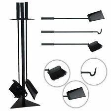 4 Piece Black Fireplace Companion Set Vintage Black Fireside Tools New FIRE89