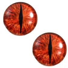 Pair of 30mm Red Dragon Glass Eyes for Jewelry or Doll Making