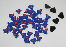 Pack of 47 plastic Buttons aeroplane rocket heart 14mm knitting craft art SALE