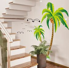 Coconut palm tree Home bedroom Decor Removable Wall Sticker Decal Art Mural