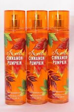 LOT 3 SWEET CINNAMON PUMPKIN BATH & BODY WORKS BODY MIST FRAGRANCE SPRAY 8 OZ