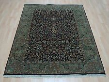 High Quality Persian Egg Plant Hand Knotted 100% Wool Modern Carpet Rug 4X6'
