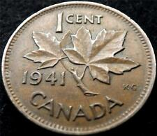 1941 GEORGE VI CANADA 1 ONE CENT COIN.