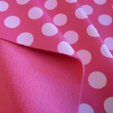 Stoff Meterware Softshell Punkte pink rosa gepunktet wasserabweisend Outdoor Neu
