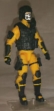 "Marauder Task Force Yellow ""Shock-Ops"" 1:18 scale GI Joe ""type"" Figure with Gear"