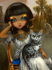 Jasmine Becket-Griffith art print egyptian princess egypt mau cat  SIGNED Sanura