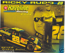 Ricky Rudd 2002 Havoline racing promotional picture signature card Ford Taurus