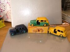 Dinky 40H  254 Austin Taxi Vintage Original Meccano RARE Old Diecast x 3 n/mint