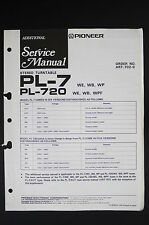 PIONEER PL-7 PL-720 WB Original Turntable Additional Service-Manual/Diagram o117