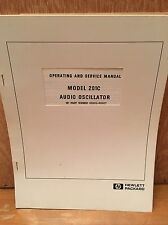 HP Model 1020C Audio Oscillator Operating SERVICE Manual Vintage
