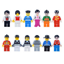 12Pcs/Lot Kids Cartoon Occupation People Mini Building Block Toy Christmas Gifts