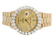 18K Mens Yellow Gold Rolex Presidential Day-Date 40MM Prong Diamond Watch 7.0 Ct