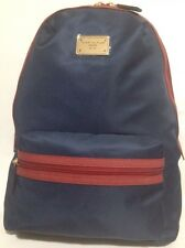 New Tommy Hilfiger Luggage Gym School College Sport Navy Red Backpack �� Nylon