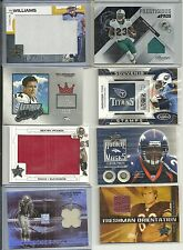 2007 Leaf R&S - PAUL WILLIAMS - Huge Game Used Jersey Rookie - TITANS #d 02/25