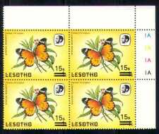 Lesotho 1986 Butterflies/Insects 15s on 1s sur c/b  a64