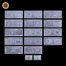 WR 14PCS Silver Banknote Full Set $1-$1 Billion US Dollar Bill Collection