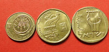 Rare set of 3 coins of  Israel  25 , 5  ( two different)  shekel  coins