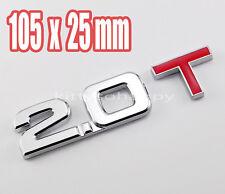 Displacement 2.0 T Turbo TSI Metal Rear Trunk Emblem Badge Decal Sticker Audi VW