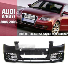 RS4 Style Front Bumper Cover Lower Mash Body Kit For AUDI 2005 - 2007 2008 A4 B7
