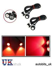 4X 12V 10W LED EAGLE EYE DAYTIME RUNNING DRL RED LIGHT TAIL REAR CAR BIKE ATV