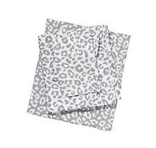 Victoria's Secret PINK Gray Leopard Twin Sheet Set Animal Bedding Dorm NIP