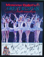 Moscow Ballet's Great Russian Nutcracker Poster with Dancer's Autographs