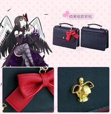 Puella Magi Madoka Magica Kaname Madoka  Anime Messenger Bag Bow Faux Leather