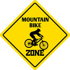 *Aluminum* Mountain Bike Zone NS2 Funny Metal Novelty Sign