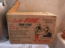 VINTAGE Auto FIRE Camp Stove From 1967-Complete + Unused in Box w Instructions