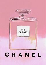 CHANEL NO5 PERFUME PINK BOTTLE ART IMAGE A4 Poster Gloss Print Laminated