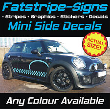 MINI CAR GRAPHICS VINYL CHECKER STRIPES DECALS STICKERS COOPER S ONE JCW r56 r53