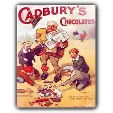 Cadbury's Chocolate Vintage Retro Anuncio Letrero de Metal Placa De Pared Póster de impresión de arte