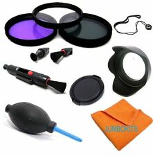 40.5mm HD 3 FILTER KIT + HOOD +CAP + ACCESSORIES FOR SONY ALPHA A5000 A5100 HD