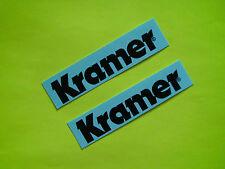 2 Kramer Guitar Neck American Black Grail Waterslide Decals