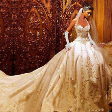 White/Ivory Cap Sleeve Luxury Mermaid Wedding Dress Formal Bridal Gown Custom