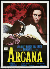 ARCANA MANIFESTO CINEMA DE SETA LUCIA BOSE' HORROR ITALIA 1971 MOVIE POSTER 2F