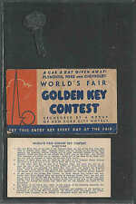 1940 NY WORLDS FAIR BANK OF NEW YORK CAR A DAY GIVEAWAY PLYMOUTH FORD SEE INFO