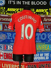 5/5 Liverpool adults XL 2013 #10 Coutinho signed MINT football shirt jersey