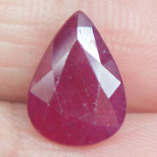 2.94 Ct ~ Natural Graceful Madagascar Dark Blood Red Pear Cut Ruby Gemstone